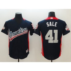 American League #41 Chris Sale Navy 2018 MLB All-Star Game Home Run Derby Men Jersey