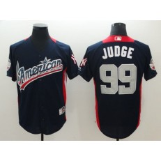 American League #99 Aaron Judge Navy 2018 MLB All-Star Game Home Run Derby Men Jersey