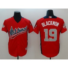 National League #19 Charlie Blackmon Red 2018 MLB All-Star Game Home Run Derby Men Jersey