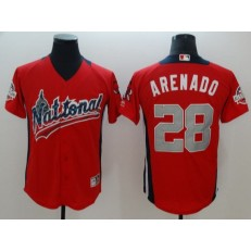 National League #28 Nolan Arenado Red 2018 MLB All-Star Game Home Run Derby Jersey