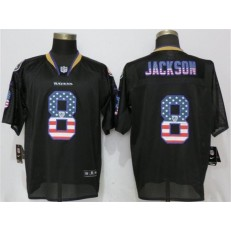 Baltimore Ravens #8 Lamar Jackson Black USA Flag Fashion Elite Nike NFL Men Jersey