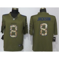 Baltimore Ravens #8 Lamar Jackson Green Salute To Service Limited Nike NFL Men Jersey