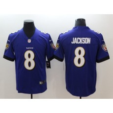 Baltimore Ravens #8 Lamar Jackson Purple Vapor Untouchable Limited Nike NFL Men Jersey