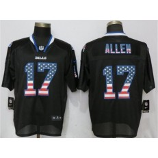 Buffalo Bills #17 Josh Allen Black USA Flag Fashion Elite Nike NFL Men Jersey