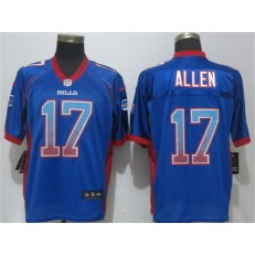 Buffalo Bills #17 Josh Allen Blue Drift Fashion Elite Nike NFL Men Jersey