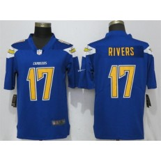 Los Angeles Chargers #17 Philip Rivers Blue Color Rush Limited Nike NFL Men Jersey