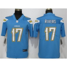 Los Angeles Chargers #17 Philip Rivers Light Blue Vapor Untouchable Limited Nike NFL Men Jesrey