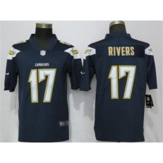 Los Angeles Chargers #17 Philip Rivers Navy Vapor Untouchable Limited Nike NFL Men Jesrey