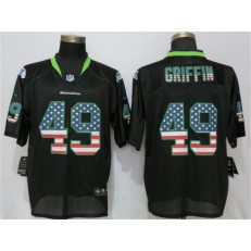 Seattle Seahawks #49 Shaquill Griffin Black USA Flag Fashion Elite Nike NFL Men Jersey