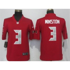 Tampa Bay Buccaneers #3 Jameis Winston Red Color Rush Limited Nike NFL Men Jersey