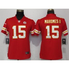 Women Nike Kansas City Chiefs #15 Patrick Mahomes II Red Vapor Untouchable Limited NFL Jersey