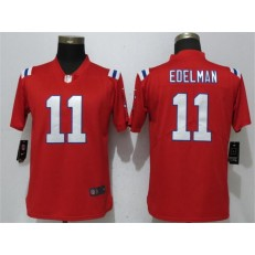 Women Nike New England Patriots #11 Julian Edelman Red Vapor Untouchable Limited NFL Jersey