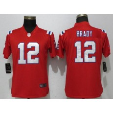 Women Nike New England Patriots #12 Tom Brady Red Vapor Untouchable Player Limited NFL Jersey