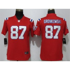 Women Nike New England Patriots #87 Rob Gronkowski Red Vapor Untouchable Limited NFL Jersey