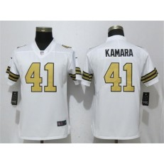 Women Nike New Orleans Saints #41 Alvin Kamara White Color Rush Limited NFL Jersey
