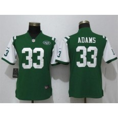 Women Nike New York Jets #33 Jamal Adams Green Vapor Untouchable Limited NFL Jersey
