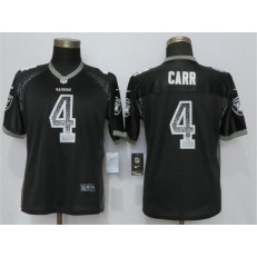 Women Nike Oakland Raiders #4 Derek Carr Black Drift Fashion NFL Jersey