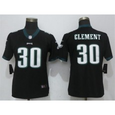 Women Nike Philadelphia Eagles #30 Corey Clement Black Vapor Untouchable Player Limited NFL Jersey