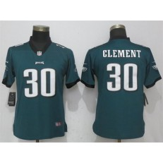 Women Nike Philadelphia Eagles #30 Corey Clement Green Vapor Untouchable Player Limited NFL Jersey