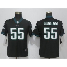 Women Nike Philadelphia Eagles #55 Brandon Graham Black Vapor Untouchable Player Limited NFL Jersey