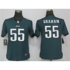 Women Nike Philadelphia Eagles #55 Brandon Graham Green Vapor Untouchable Limited NFL Jersey