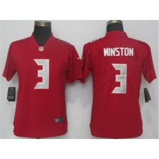 Women Nike Tampa Bay Buccaneers #3 Jameis Winston Red Color Rush Limited NFL Jersey