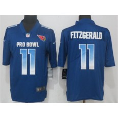 Arizona Cardinals #11 Larry Fitzgerald Royal NFC 2018 Pro Bowl Game Nike NFL Men Jersey