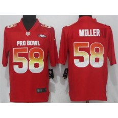 Denver Broncos #58 Von Miller Red AFC 2018 Pro Bowl Game Nike NFL Men Jersey