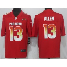 Los Angeles Chargers #13 Keenan Allen Red AFC 2018 Pro Bowl Game Nike NFL Men Jersey