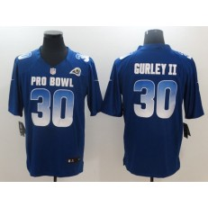 Los Angeles Rams #30 Todd Gurley II Royal NFC 2018 Pro Bowl Game Nike NFL Men Jersey