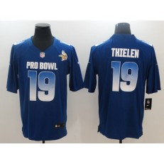 Minnesota Vikings #19 Adam Thielen Royal NFC 2018 Pro Bowl Game Nike NFL Men Jersey