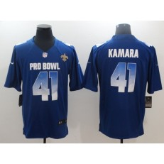 New Orleans Saints #41 Alvin Kamara Royal NFC 2018 Pro Bowl Game Nike NFL Men Jersey