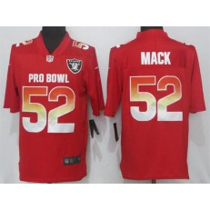 Oakland Raiders #52 Khalil Mack Red AFC 2018 Pro Bowl Game Nike NFL Men Jersey