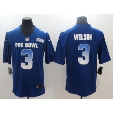 Seattle Seahawks #3 Russell Wilson Royal NFC 2018 Pro Bowl Game Nike NFL Men Jersey