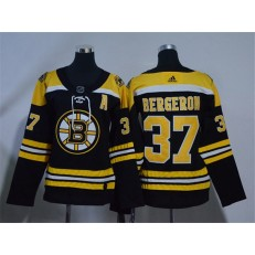 Boston Bruins #37 Patrice Bergeron Black Women Adidas Jersey