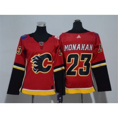 Calgary Flames #23 Sean Monahan Red Women Adidas Jersey