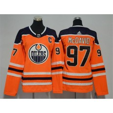 Edmonton Oilers #97 Connor McDavid Orange Women Adidas Jersey