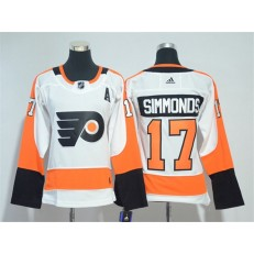 Philadelphia Flyers #17 Wayne Simmonds White Women Adidas Jersey