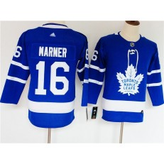Toronto Maple Leafs #16 Mitch Marner Blue Women Adidas Jersey