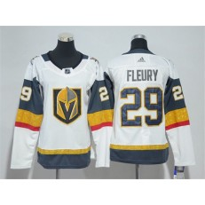 Vegas Golden Knights #29 Marc-Andre Fleury White Women Adidas Jersey