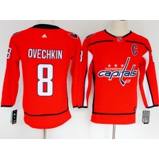 Washington Capitals #8 Alexander Ovechkin Red Women Adidas Jersey