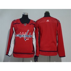 Washington Capitals Blank Red Women Adidas Jersey