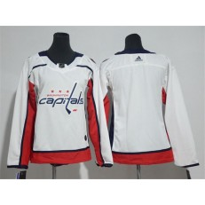 Washington Capitals Blank White Women Adidas Jersey