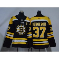 Boston Bruins #37 Patrice Bergeron Black Youth Adidas Jersey