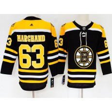 Boston Bruins #63 Brad Marchand Black Youth Adidas Jersey