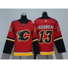 Calgary Flames #13 Johnny Gaudreau Red Youth Adidas Jersey