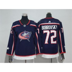 Columbus Blue Jackets #72 Sergei Bobrovsky Navy Youth Adidas Jersey