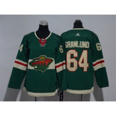 Minnesota Wild #64 Mikael Granlund Green Youth Adidas Jersey