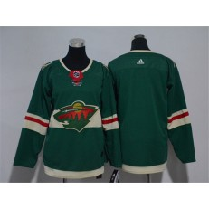 Minnesota Wild Blank Green Youth Adidas Jersey