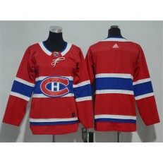Montreal Canadiens Blank Red Youth Adidas Jersey
